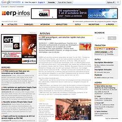 L'ERP préconfiguré, une solution rapide mais plus contraignante