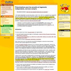 Préconisations pour les accueils en logements indépendants, services compris- Famidac