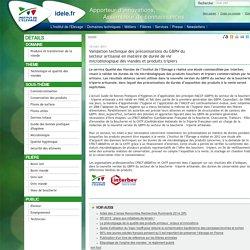 INSTITUT DE L ELEVAGE 18/03/14 Validation technique des préconisations du GBPH du secteur artisanal en matière de durée de vie microbiologique des viandes et produits tripiers