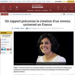 Un rapport préconise la création d'un revenu universel en France