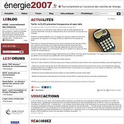 Tarifs: la CLCV préconise transparence et open data, Energie 2007.fr