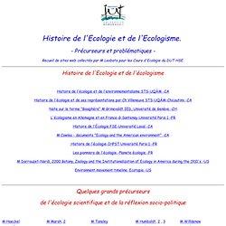 Histoire de l'Ecologie et de l'Ecologisme