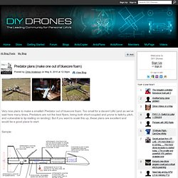 Predator plans (make one out of bluecore foam)