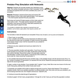 Predator Prey Simulation with Notecards