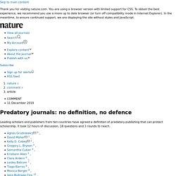 Predatory journals: no definition, no defence