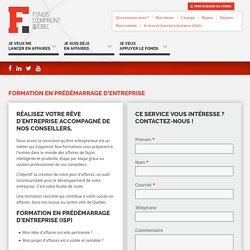 Formation en prédémarrage d'entreprise - Fonds d'emprunt Québec