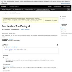 Predicate(T)-Delegat (System)