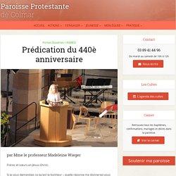 Prédication du 440è anniversaire