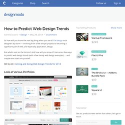 How to Predict Web Design Trends