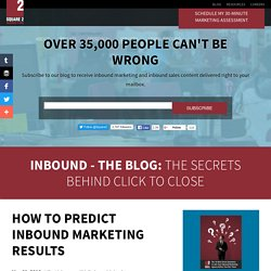 How To Predict Inbound Marketing Results