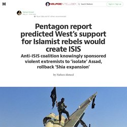 Pentagon report predicted West's support for Islamist rebels would create ISIS — INSURGE intelligence