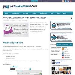 Objet emailing : prédictif et bonnes pratiques