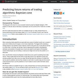 Predicting future returns of trading algorithms: Bayesian cone