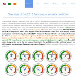 Predicting South American fire season severity (FSS)