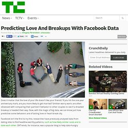 Predicting Love And Breakups With Facebook Data