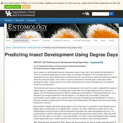 Predicting Insect Development Using Degree Days