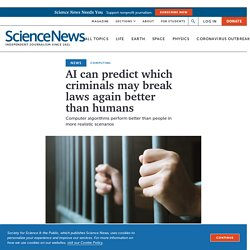 AI bests humans at predicting repeat offenders among criminals