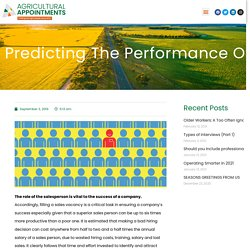 Predicting the Performance of Sales Candidates. Can it be done?