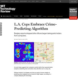 L.A. Cops Embrace Crime-Predicting Algorithm