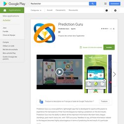 Prediction Guru – Applications Android sur Google Play