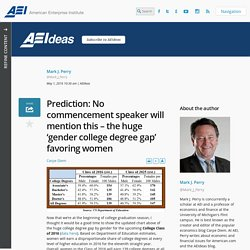 Prediction: No commencement speaker will mention this – the huge 'gender college degree gap' favoring women - AEI
