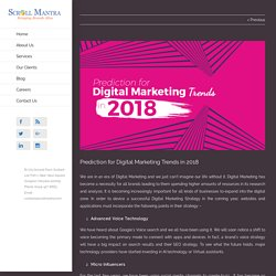 Prediction for Digital Marketing Trends in 2018 - Scroll Mantra