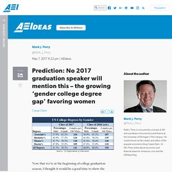 Prediction: No 2017 graduation speaker will mention this – the growing 'gender college degree gap' favoring women