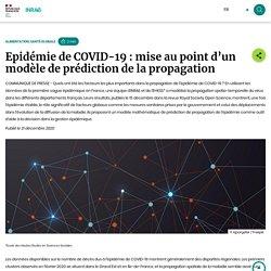 INRAE 21/12/20 Epidémie de COVID-19 : mise au point d'un modèle de prédiction de la propagation