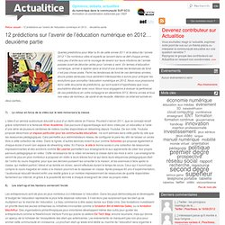 12 prédictions sur l'avenir de l'éducation numérique en 2012… deuxième partie