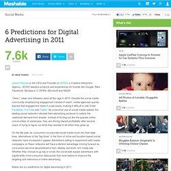 6 Predictions for Digital Advertising in 2011