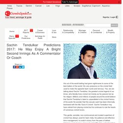 Sachin Tendulkar Horoscope: What Ganesha predicts about his life in 2017?