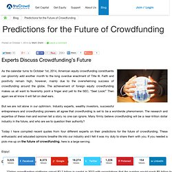 Predictions for the Future of Crowdfunding