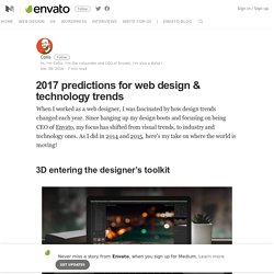 2017 predictions for web design technology trends – Envato – Medium