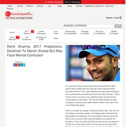 Rohit Sharma – Indian Cricket Player – Astrological Predictions