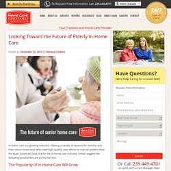 Predictions for the Future of Elderly In-Home Care