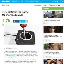 5 Predictions for Game Mechanics in 2011