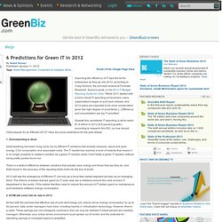 6 Predictions for Green IT in 2012