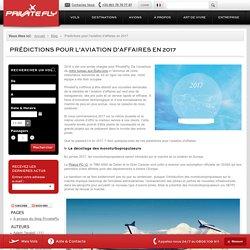 Prédictions pour l'aviation d'affaires en 2017