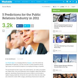5 Predictions for the Public Relations Industry in 2011