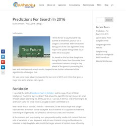 Our Predictions For Search Engines in 2016