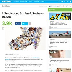 5 Predictions for Small Business in 2011