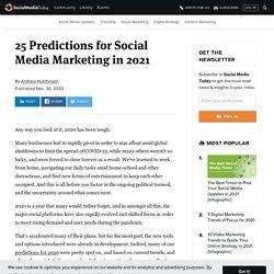 25 Predictions for Social Media Marketing in 2021
