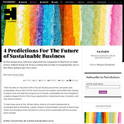 4 Predictions For The Future of Sustainable Business