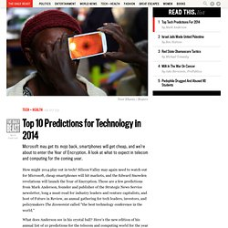 Top 10 Predictions for Technology in 2014