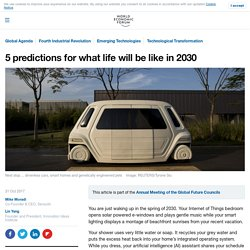 This is what life will be like in 2030