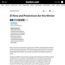 El Nino and Predictions for the Winter - Growing Wisdom