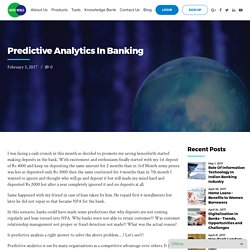 Predictive Analytics In Banking