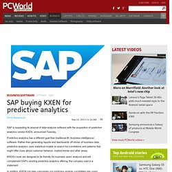 SAP buying KXEN for predictive analytics