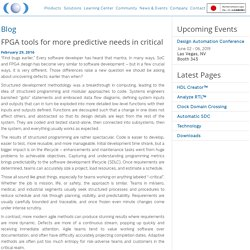 FPGA tools for more predictive needs in critical - Blue Pearl Software Inc.