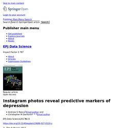 Instagram photos reveal predictive markers of depression
